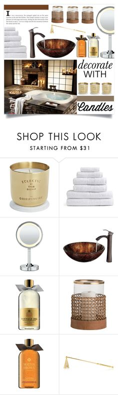"""Decorate With Candles!"" by miss-image ❤ liked on Polyvore featuring interior, interiors, interior design, home, home decor, interior decorating, Tom Dixon, Conair, Vigo and Molton Brown"