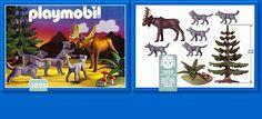 PLAYMOBIL® set #3829 - Moose / Wolves