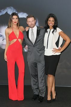 Jacqueline MasInnes Wood (Steffy Forrester), Jacob Young (Rick Forrester) and Karla Mosley (Maya Avant Forrester) - The Bold and the Beautiful Happy Little Trees, Dreams And Nightmares, Soap Stars, Bold And The Beautiful, Young And The Restless, Make You Cry, Genoa, Be Bold, Look Younger