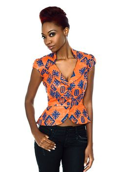 Collection of Beautiful Ankara Tops For Jeans For Ladies. These Beautiful Ankara Tops For Jeans are well stylishly designed for ladies. Check down below list for your choice of the Beautiful Ankara Tops For Jeans, which fits you. African Inspired Fashion, African Print Fashion, Africa Fashion, Ankara Fashion, African Prints, African Attire, African Wear, African Dress, African Style