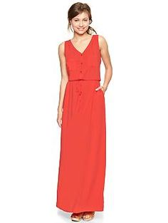 I think i need this in my life. With Wedge sandals, a scarf, and a little jacket....and big earrings...and bracelets.  Henley maxi dress | Gap