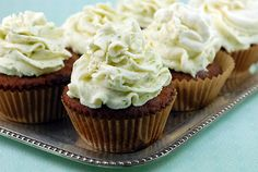 GF coconut cupcakes with key lime icing