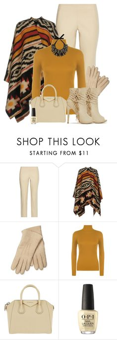 """""""Poncho #1"""" by kimzarad1 ❤ liked on Polyvore featuring The Row, Maison Fabre, WearAll, Givenchy, OPI and Forest of Chintz"""