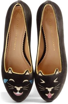 Charlotte Olympia LOL Kitty Flat (Women) available at  Nordstrom Pointy Toe  Flats, 8fcabc97de