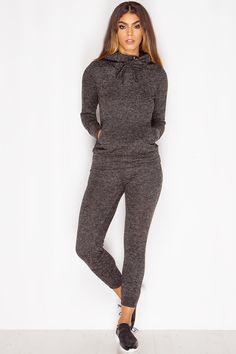 Melany Charcoal Grey Loungewear Set