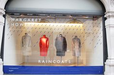 "MARGARET HOWELL,London, UK, ""Raincoats...some people feel the rain...others just get wet"", pinned by Ton van der Veer"