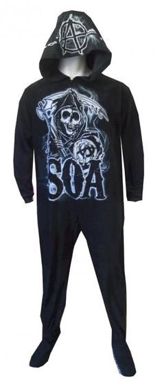 Sons Of Anarchy Grim Reaper Unisex Hooded Footie Pajama