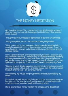 The Money Meditation (for manifesting financial abundance) goodvibeblog.com/... http://www.loapower.net/a-workshop-of-new-experience-and-knowledge/