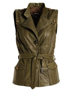 LOVE, LOVE, LOVE this perforated leather vest from DANIER! Perfect way to incorporate leather into your summer wardrobe!