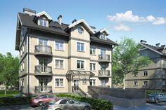Budynek mieszkalny, wielorodzinny, z dwunastoma mieszkaniami, o czterech kondygnacjach nadziemnych, podpiwniczony.