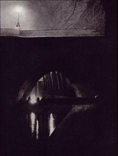 Brassai - Under one of the seine bridges 1933