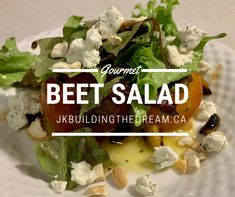 This whole beet salad level's up the presentation and quality of this simple salad. Wow your guests! Love Beets, Red Beets, Roasted Garlic Cloves, Beef Wellington, Pickled Onions, Beet Salad, Salad Ingredients, Easy Salads, New Recipes