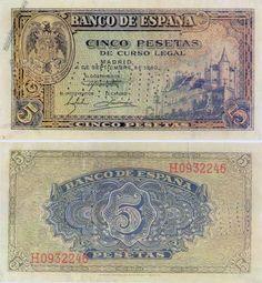 1940- billete 5 pesetas, Madrid