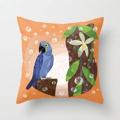 And here you can see our macaw on a pillow thats available hrere https://society6.com/product/hyacinth-macaw-and-vanilla274874_pillow ! :-) #HAPIdesign #macaw #birds #exotic #pillow #society6 #instalike #instagood #follow #spiral #drawing #smile #happy