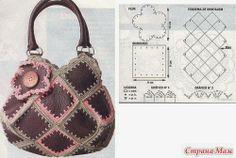*El rincón de las Manualidades de Siry*: Bolsa en cuero y crochet