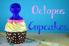 Bake Happy: How to Make Fondant (or Gumpaste) Octopus Cupcake Toppers