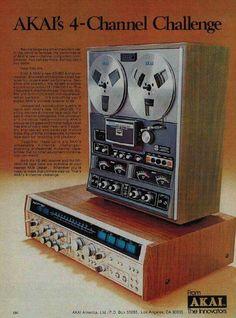 Vintage AKAI quadrophonic equipment