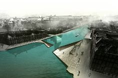 'Flux' by Architecture Project presents a daring entry to Amsterdam's Iconic Pedestrian Bridge...