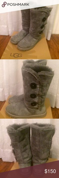 b2bc8d38943 Ugg Bailey Button Triple Boot Very lightly worn and well cared for Ugg boots.  Beautiful