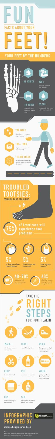 Did you know that there are more than 200 muscles, ligaments, and tendons in the feet? That is why so many people suffer from foot problems! #podiatry