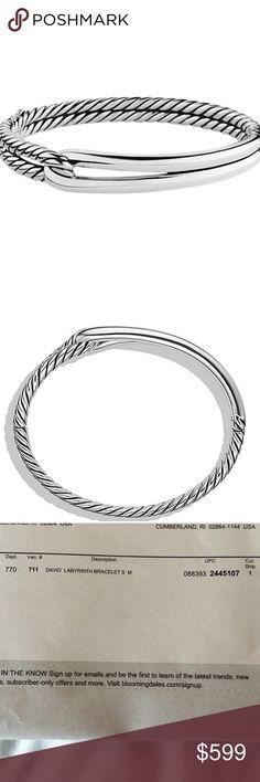 NWT David Yurman Labyrinth Single-Loop Bracelet Sterling silver Bracelet, 10mm wide, Push-button clasp David Yurman Jewelry Bracelets