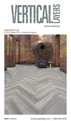 Uncover Tile 5T150 color Pewter 50515 | installed herringbone