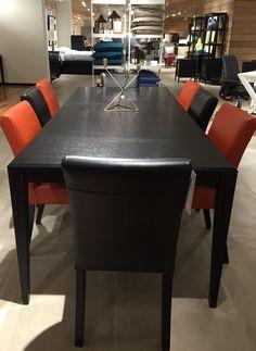 #CrateAndBarrel exploration :  Cool dinner table setup. Kinda too formal tho