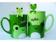 Frog mugs - so cute