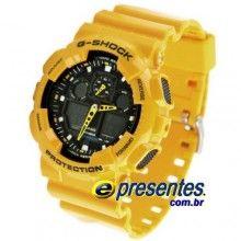 0c6119ac06b GA-100A-9ADR Relógio de Pulso Casio GShock X-Large Limited