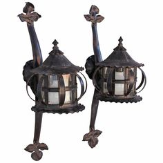Exceptional 1920s Pair of Porch Lights | From a unique collection of antique and modern wall lights and sconces at https://www.1stdibs.com/furniture/lighting/sconces-wall-lights/
