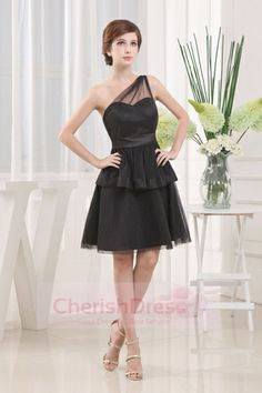 One Shoulder A-Line Knee-Length Bridesmaid Dress Reminds me of the one we're getting already striefler Marie