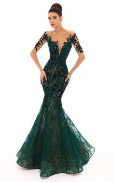 Tarik Ediz 93669 The name of this style is: Linda. The fabric in this Tarik Ediz Coutre style is LaceTarik Ediz - 93669 Floral Sequined Lace Mermaid Dress With TrainTarik Ediz 93669 Ashley Rene's Prom and PageantTake the crowd's breath away by showin Mermaid Evening Gown, Evening Dresses, Prom Dresses, Green Evening Dress, Elegant Dresses, Beautiful Dresses, Nice Dresses, Long Gown Elegant, Green Wedding Dresses
