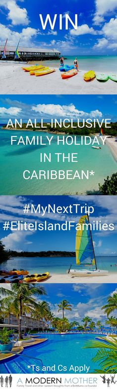 Win an all-inclusive stay with Elite Island Resorts in the Caribbean. Simply create your own   travel inspirational Pinterest board using the hashtags #MyNextTrip and #EliteIslandFamilies, and don't forget to mention the word contest in your description too. Your board could be anything from beach breaks, to mountains, to city tripping. Just have fun! Comp closes 17/12/12.
