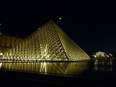 The Musee du Louvre at night