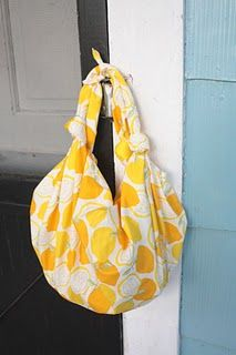Quick And Easy Furoshiki Knotted No Sew Tote Bag Tutorial Diy Bags