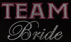 Team Bride Wedding Bling T-Shirt