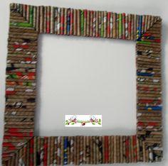 Andairadas: Marcos hechos con rollitos de papel