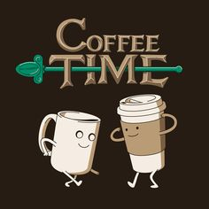 funny coffee pictures | Coffee Adventure Time T-Shirt Animated Gif