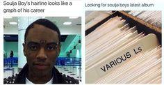 Chris Brown Disses Soulja Boy's Declining Career & Receding Hairline In InstagramPosts