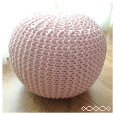 Pink Pouf!  Great to stage a little girls bedroom.