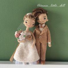 💖💖💖💖💖 ________________ 💗рост 12 см 💗хлопок 100 % 💗проволочный каркас 💗снимается только пиджак Crochet Dolls, Knit Crochet, Wedding Doll, Crochet Wedding, Little Doll, Amigurumi Toys, Crocheting, Marie, Groom