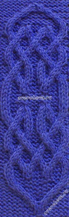 узор 349 - Aran cable stitch