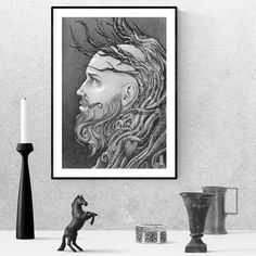 pencil art drawings, sketches, portrait, realistic, men, realistic man, faces, long beard, pencil sketch Realistic Pencil Drawings, Beard Lover, Guy Drawing, Etsy App, Gift For Lover, Printable Wall Art, Gifts For Friends, Printables, Magic
