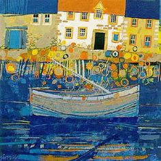 Low Tide, Fife by George Birrell - art print from King & McGaw Seaside Art, Poster Prints, Art Prints, Naive Art, Collages, Landscape Art, Art Images, Folk Art, Contemporary Art