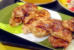 Honey Mustard and Red Onion Barbecued Chicken from FoodNetwork.com