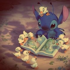 Stitch throw a book today