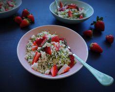 Vanløse blues.....: Sommer-couscous med asparges, jordbær & feta