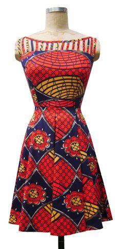Cage Dress | Tribal | Retro Cutout Neckline Cocktail Dress | Trashy Diva