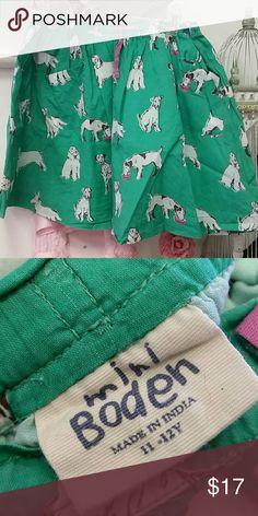 🐕Mini Boden dogs skirt Euc. Stretch waist. 2 pockets on front Mini Boden Bottoms Skirts
