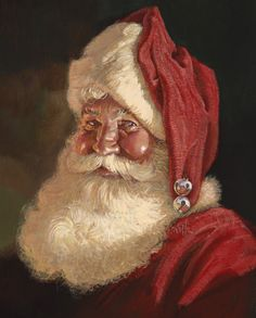 Santa Claus in art Christmas Scenes, Father Christmas, Santa Christmas, Christmas Pictures, Winter Christmas, Xmas, Christmas Mantles, Primitive Christmas, Blue Christmas
